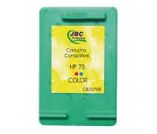 Cartucho Compatível HP 75 color - 9ml - CX 01 UN