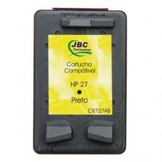 Cartucho Compatível HP 27 preto - 20ml - CX 01 UN